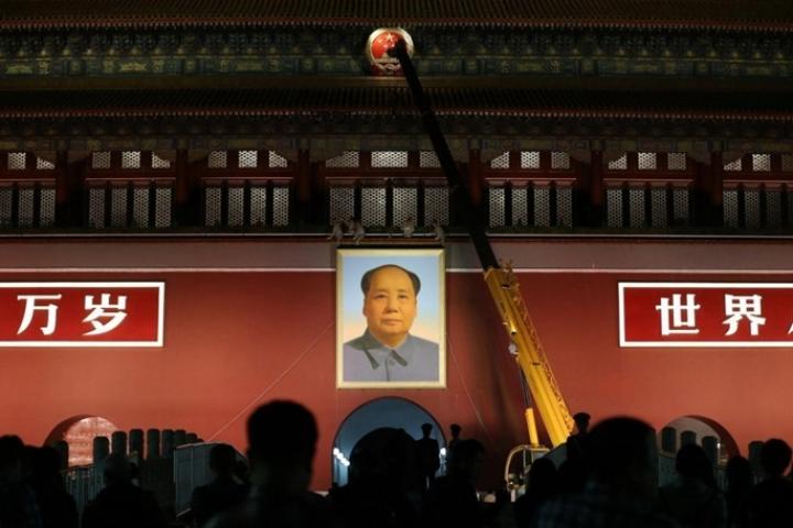 Le portrait de Mao a été changé pour la Fête Nationale
