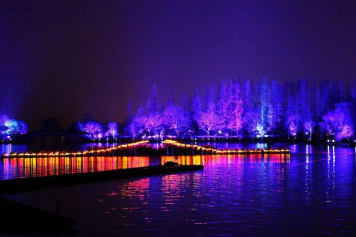 Spectacle sur l'eau à Hangzhou
