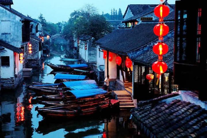 Guide franco: Jardin du maître des filets, village Zhouzhuang